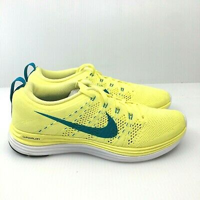 outlet store 4cd95 cc4ce Women s Nike Flyknit Lunar 1 ELECTRIC YELLOW 554888 731 ~ Size 7 RARE  COLOR🔥