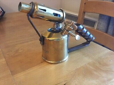 Lovely Old Antique/Vintage British Made Monitor No. 132 Brass Blow Torch