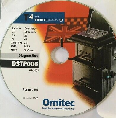 Diagnostic Disk / CD - T4 MG Rover / Testbook DST0006 Portuguese Language