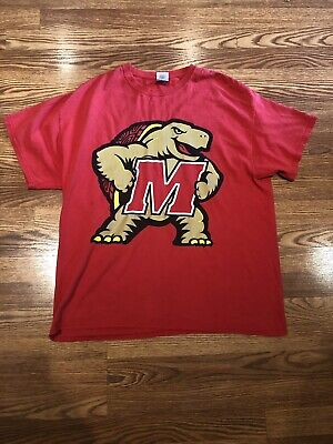 6adbb391b UNIVERSITY OF MARYLAND Terrapins with Turtle Red Tee-Shirt - $14.24 ...