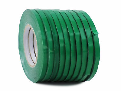 WOD UPVC-24BS Dk. Green Produce Poly Bag Sealing Tape 1/2 in. x 180 yds. 10-Roll