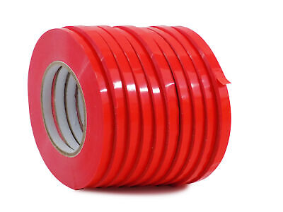 WOD UPVC-24BS Red Produce Poly Bag Sealing Tape: 1/2 in. x 180 yds. 10-Roll