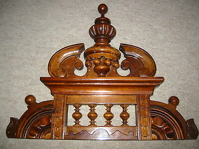Beautiful brown clock top / crown for a Vienna (?) Regulator clock / Freeswinger