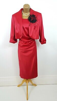 14 Designer Personal Choice Red Wedding Outfit 2 Pce Dress Jacket Seeother Items