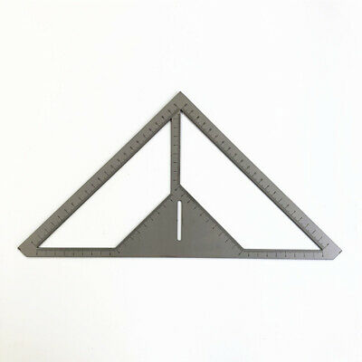 Woodworking Aluminum Triangle Right Angle Ruler Protractor Framing Carpenter