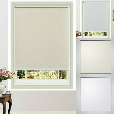 Roller Blinds Blockout Commercial Window Curtain Office Home Room Darkening AU