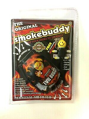 ORIGINAL Smoke Buddy Personal Air Filter EVIL BUDDY Style Odorless Air Cleaner