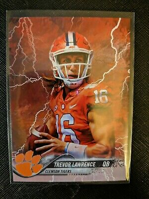 Trevor Lawrence Clemson Tigers Custom Lighting Strike Card CFB Championship MVP!