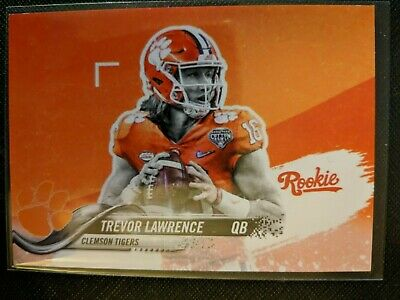 Trevor Lawrence 2018 2019 Clemson Tigers Orange Rookie Novelty Card