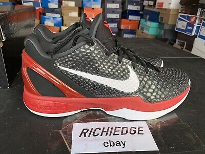 newest collection baba6 4a1d0 Nike Zoom Kobe VI 6 Black White Red Pass As DS Size 10.5 100% Authentic