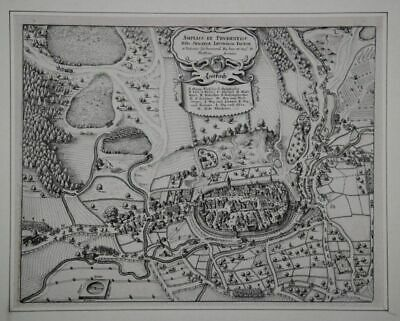 View the City Bird's Eye View with Näherer Umgebung. Copperplate by Meria
