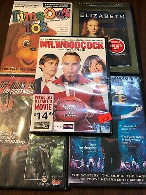 Lot Of 5 DVDs Mr. Woodcock Time Out Tot Elizabeth Lord Of The Dance