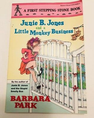 Junie B. Jones and a Little Monkey Business book for kids vintage 1993
