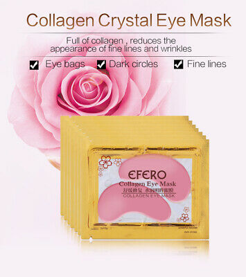 20 Pairs Collagen 24k Gold Under Eye Gel Mask - Anti Ageing Wrinkle Bag Remover