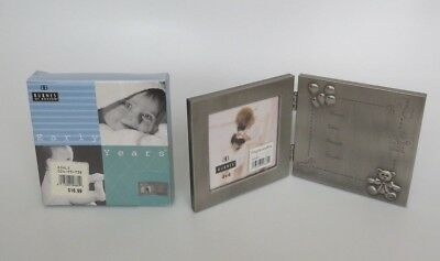 Burnes of Boston Early Years ENGRAVEABLE BABY PHOTO PICTURE FRAME 4X4 Pewter New