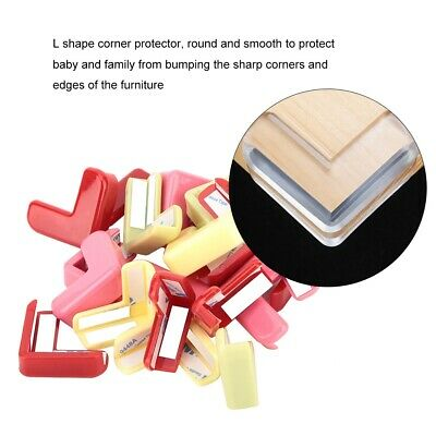 20pcs L Shape Baby Kid Safety Silicone Furniture Edge Corner Protection Pad