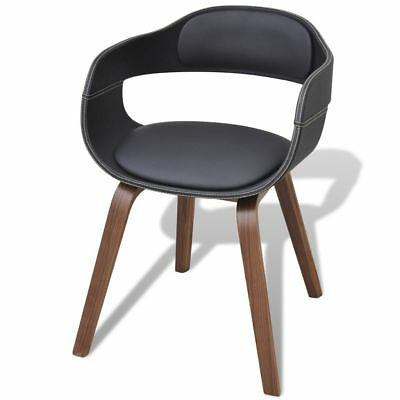 Modern High-quality Dining Chair with Bentwood Artificial Leather Kitchen Seat