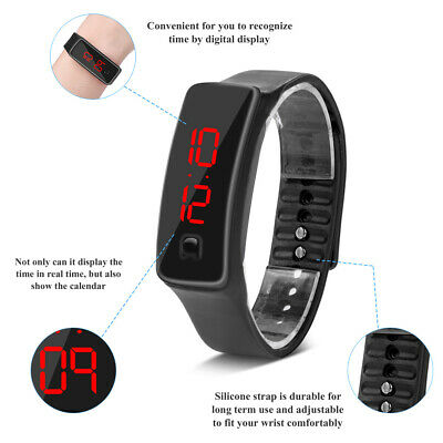 Waterproof LED Digital Screen Wrist Sports Watches For Men Women Boys Girls Kids