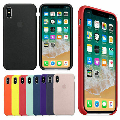 Genuine Originale Silicone Sottile Custodia Cover per iPhone X XR XS 8 7 6 Plus