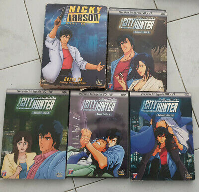 nicky larson city hunter lot dvd saison 1 vol 1-2-3-9-10
