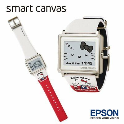 27f5d4f10 Hello Kitty EPSON Smart Canvas Watch Happy 45th Anniversary Sanrio Japan