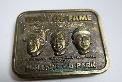 1979 vintage belt buckle walk of fame american Hollywood park horse race