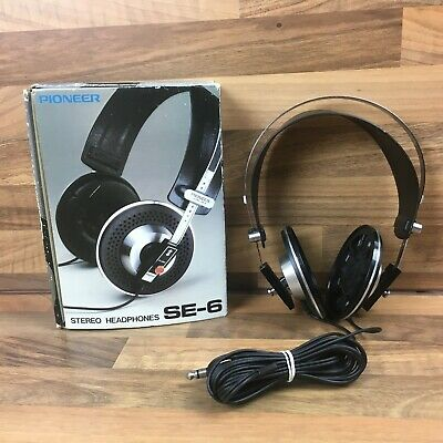 Vintage Boxed Pioneer SE-6 Stereo Headphones Work Great Need New Ear Pieces