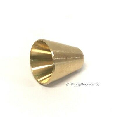 Small Slip in Brass 1cm Cone Piece for Bongs Waterpipes Water Pipe Smoking Herb