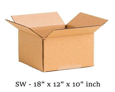 18x12x10 inch Single Wall Mailing Postal Packing Cardboard Boxes Multi QTY's