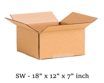 18x12x7 inch Single Wall Mailing Postal Packing Cardboard Boxes Multi QTY's
