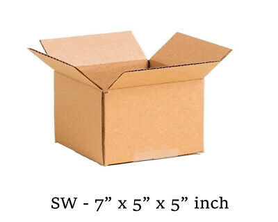 7x5x5 inch Single Wall Mailing Postal Packing Cardboard Boxes Multi QTY's