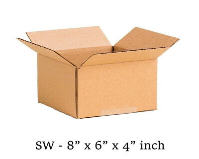 8x6x4 inch Single Wall Mailing Postal Packing Cardboard Boxes Multi QTY's
