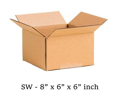 8x6x6 inch Single Wall Mailing Postal Packing Cardboard Boxes Multi QTY's