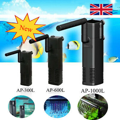 Fish Tank Filter Submersible For Internal Aquarium Spray Bar Included UK Seller