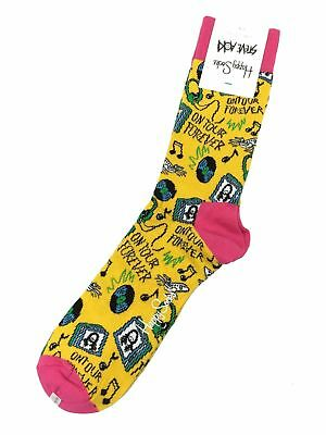 Happy Socks Steve Aoki Limited Edition On Tour Forever Cotton Socks Size 8-12