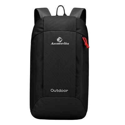 Outdoor Sport Portable Nylon Durable Bag Backpack Climbing Backpack- Black(10L)
