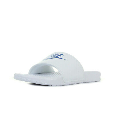 Homme Jdi Taille Benassi Claquettes Chaussures Blanc Blanche Nike UzVpSM