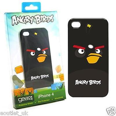 Angry Birds Case Cover iPhone 4/4S Officially Licenced by Gear4 - Black Bird NEW