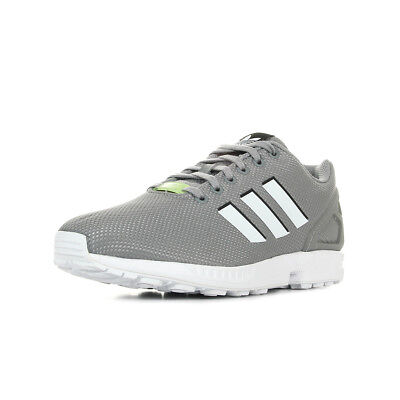 f2f55b3ee027b Chaussures Baskets adidas homme Zx Flux taille Gris Grise Textile Lacets