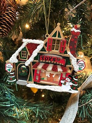 "Nice New Kurt Adler 4.25"" Santa's Toy Shop Wooden Christmas Ornament!  Snowman!"