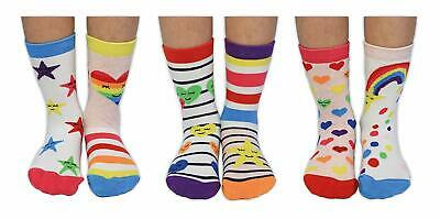 Over the Rainbow Girls Sock Set By United Oddsocks - Girls Novelty Socks