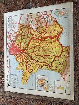 Double Sided Vintage Map Of France - 1.2x1.0m