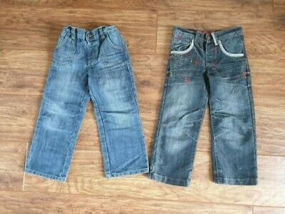 2 x Boy's Blue Denim Jeans, George (Asda)/Denim Co. (Aged 3 - 4 Years) VG Cond.