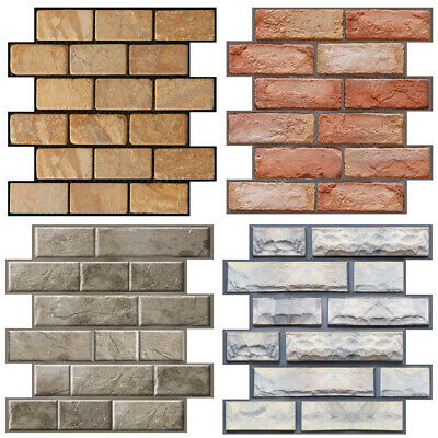 3D Wall Paper Brick Stone Rustic Effect Home Decor Self-adhesive Wall Sticker C