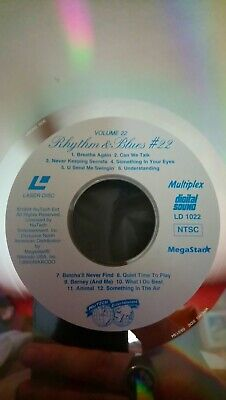 Karaoke Sing-along rhythm and blues #22 Lazer Disc without cover