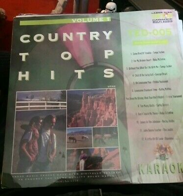 Country top hits Volume 1 TED-005 Lazer Disc