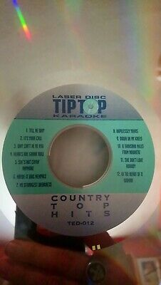 Country top hits Volume 1 TED-012 Lazer Disc  no sleeve
