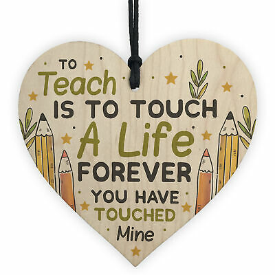 Teacher Gifts Teaching Assistant Gifts Wooden Heart Leaving Gifts School Nursery