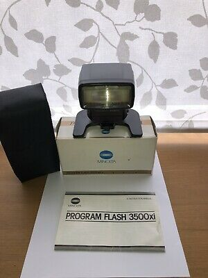 Minolta Program Flash 3500xi For 600si & 700si SLR Cameras