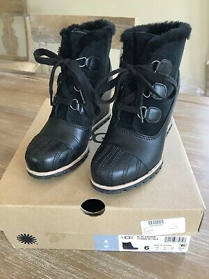 32165c69891 UGG ALASDAIR WOMEN'S Waterproof Leather Lace Up Wedge Bootie Size ...